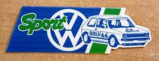 VW Volkswagen Sport Golf Mk1 Race Rally Motorsport Sticker
