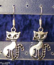 1 paire chat kitty cat Boucles d'oreilles d'OREILLE 16mm x 26mm
