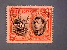 Grenada. KGVI 1938 2d Black & Orange. SG156. Wmk Mult Script CA. P12½. Used.