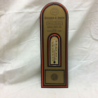 Vtg Advertising Thermometer Heisterman & Johnson Funeral Director Buena Vista PA