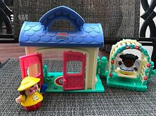 Fisher Price Doll House Little People Family Happy Home