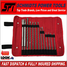 MILWAUKEE SDS PLUS ROTARY HAMMER DRILL BIT & CHISEL SET 13 PIECE & ROLL POUCH