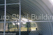 DuroSPAN Steel 40x50x16 Metal Building Pitching & Batting Cage Open Ends DiRECT