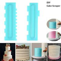 DIY Cake Scraper Pastry Icing Cream Decorating Comb Smoother Spatulas Baking