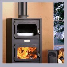 Estufa de leña chimenea para calefacción directa KUPRO LUX con horno 11KW bonita