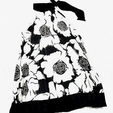 Dots Womens Dress Sze M White Black Lace Overlay Ruffle Shift Dress Sleeveless