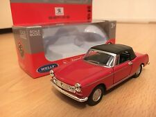 Peugeot 404 miniature cabrio model car Welly diecast scale 1:36 modellauto red
