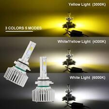 White/Yellow 16000LM 160W 9006 HB4 LED Car Headlight 5 Modes High Low Beam Bulbs