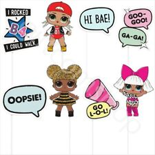 LOL Surprise Party Girls Birthday Party Supplies Selfie 8pc Photo Booth Props