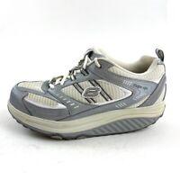 Skechers Shape Ups Womens 10 M Walking Shoes White Silver SLW Sneakers 11814
