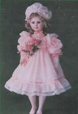 "Doll Dress Pattern by Connie Lee Finchum-Elise Fits A 23""-24"" Doll"
