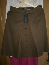 """Zara Woman A Line skirt brown size M new with tags length 24"""" waist flat 15"""""""