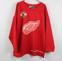Vintage 90s Pro Player Mens Large Detroit Red Wings Jersey 50 Anderson Red
