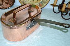 French antique Daubière braisière copper pots pans  professional cuivre