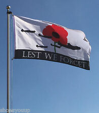 WORLD WAR 1 WW1 LEST WE FORGET 5ft x 3ft Royal Air Force RAF Flag