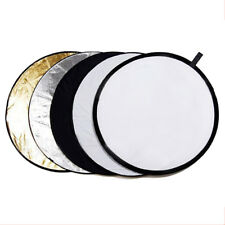 "110CM 5-in-1 Photograph Disc Collapsible Light Reflector Multi Photo 43"" Studio"