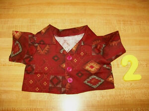 """GEOMETRIC PATTERN SHIRT ?NAVAJO DESIGNS for 15-16-17"""" CPK Cabbage Patch Kids"""