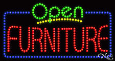 "New ""Open Furniture"" 32x17 Border Solid/Animated Led Sign W/Custom Options 25504"