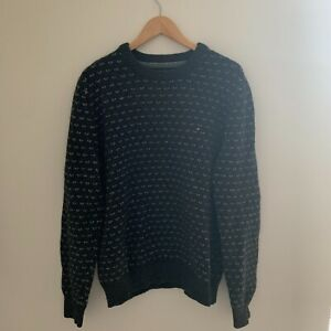 Mens Tommy Hilfiger Knitted Jumper, Size L, Pullover Pattern