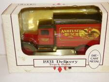 ERTL Hawkeye Anheuser Busch inc 1931 Delivery Truck Money Box.