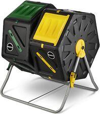 Miracle-Gro Dual Chamber Compost Tumbler,Outdoor Compost Bin, 2 Sliding Doors