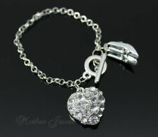 Unbranded Crystal Silver Plated Fashion Bracelets