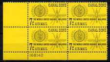 CANAL ZONE 1962 ANTI-MALARIA - WHO - MOSQUITOES  MINT NEVER HINGED  PLATE  BLOCK