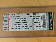 Don Henley 2012 4Th Row Center Full Ticket