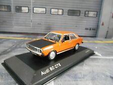 AUDI 80 GTE orange Sport 1984 Limousine B1 Minichamps Dealer  1:43