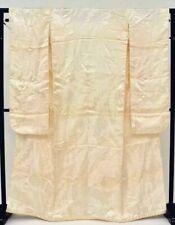 @Japanese vintage Kimono Wedding Shiromuku + kakeshita 2 set/Silk /3nfuji30861