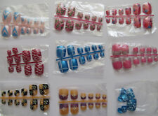 12 PRE-DESIGN TOES NAIL TIPS SIZES IDEAL REPLACEMENT FOR LOST TOE NAILS