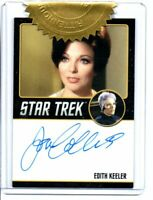 Star Trek TOS Archives & Inscriptions Joan Collins Autograph card 9 Case dealer