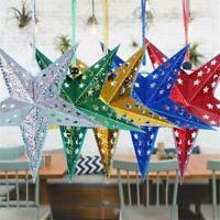 Star Paper Lantern Lampshade Wedding Party Xmas Pub Hanging New Decor U8N7