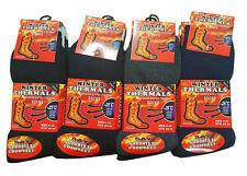 12-6-3 Pares de Calcetines para Hombre De Invierno Térmico Calcetines térmica de trabajo al aire libre Negros UK 6-11