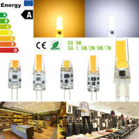 Dimmable G4 G9 2/6/7/9W COB LED Silicon Silica Gel Light Corn Bulb AC/DC12V 220V