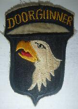 HELICOPTER DOOR GUNNER - Patch - US 101st AIRBORNE - EAGLES - Vietnam War - 1438