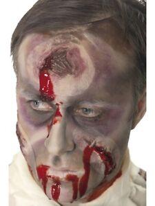 Latex Hole In The Head Bullet Hole + Adhesive Scar Horror Fancy Dress