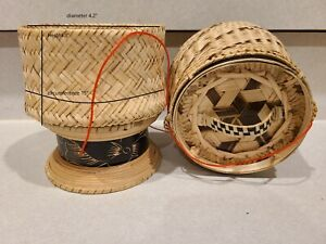 Lao Sticky Rice Basket - Bamboo About 2 serving