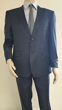 Men's Premium Quality Navy PinStripe Modern Fit Dress Suits Brand New Suit 38 R