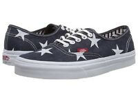 Vans AUTHENTIC Womens Shoes (NEW) Stars & Stripes USA Flag AMERICA Free Shipping