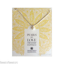 """Dogeared Sphere Potato Pearl & 925 Sterling Silver 18"""" Ball Chain Necklace NEW"""