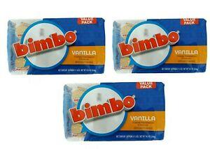 Bimbo Vanilla Cream Sandwich Cookies Galletas Candy Sweets (3 Bag of 10 Packs)