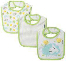 Gerber Unisex-Baby Newborn 3 Pack Terry Dribbler Bib Farm Animals, Green