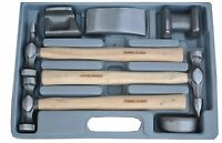 Tool Hub 9205 Panel Beating Set 7 Piece Drop-Forged Hickory Shafts Hammers