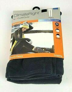 Cuddl Duds Climate Right Women's Stretch Fleece Legging Black XXL
