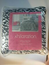 NEW! Xhilaration 6 Piece Bed Set Twin Zebra Comforter Sheets Pillow Black White