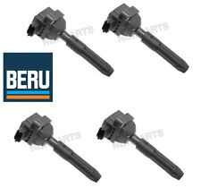 NEW Mercedes SLK230 C230 Set of 4 Ignition Coils w/ Spark Plug Connectors Beru
