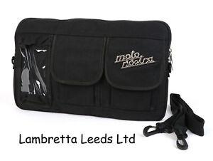 LAMBRETTA - VESPA - ROYAL ALLOY - GLOVE BOX BAG MOTO NOSTRA BLACK - CLASSIC.