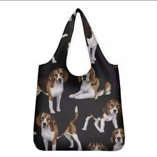 More details for beagle shopping bag reusable foldable washable great gift idea beagle dogs