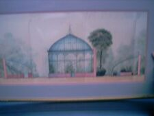 "Milton A Bleier GREENHOUSE IN THE GARDEN ARCT. DRAW  #32088 40"" BY 23.5""  FRAME"